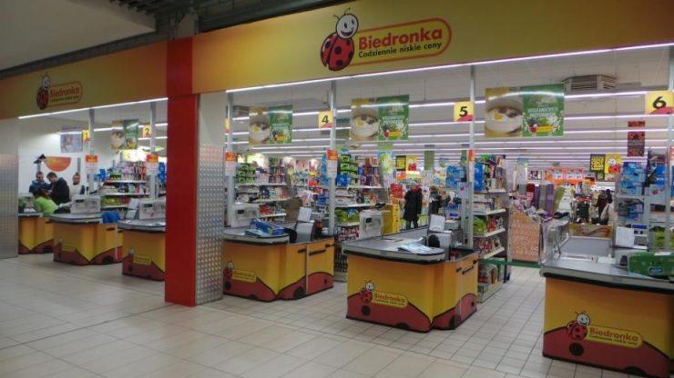 Супермаркет Biedronka в Замостье
