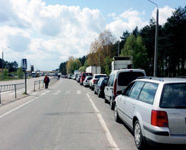 Очереди и камеры в переходе Ягодин-Дорогуск